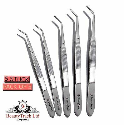 London College Tweezers Dental Serrated Tip Surgical Instruments Stainless Steel