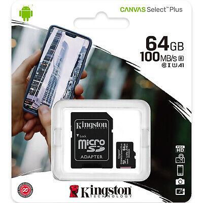 Kingston 64GB Micro SD SDXC MicroSD Class 10 Tarjeta Memoria 64 GB Canvas Select