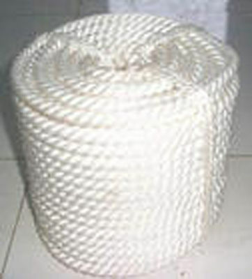 """1/2""""x300' Twisted 3 Strand Nylon Rope WITH Thimble"""