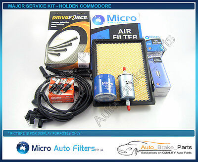 Major Service Kit with DRIVEFORCE Leads for HOLDEN COMMODORE VX 3.8Ltr V6
