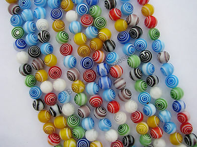 Mixed Round MILLEFIORI Glass Loose Spacer BEADS - Choose 4MM,6MM & 8MM 10MM 12MM