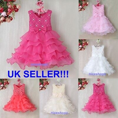 Girls Flower/Formal/Bridesmaid/Party/Princess/Prom/Wedding/Christening Dress