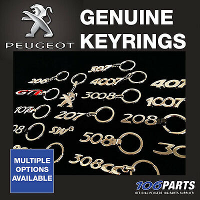 New! Genuine Peugeot Model Logo Keyrings! Official Peugeot Merchandise Product