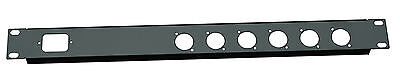 1U Rack 19 inch 1 IEC C13 Punched hole 6 XLR D series hole folded front panel
