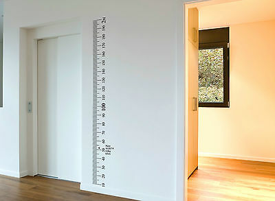 Ruler wall Vinyl decal sticker growth chart DIY wooden vintage height chart