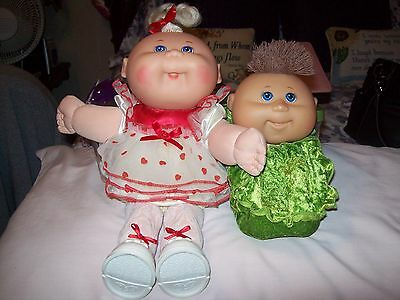2 Vintage Cabbage Patch Dolls Signed and Marked 1988 and 2009