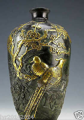 Chinese Dynasty Vintage Collection Bronze Statues Flower pot 20cm