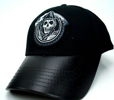 Sons Of Anarchy Road Gear Baseball Style Cap/hat - Osfm - Leather Strap & Bill