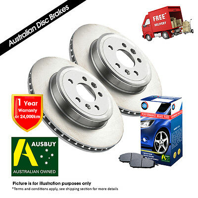 2 Front Disc Brake Rotors Holden Commodore Vr-Vs With Pads Adb035 Db1085