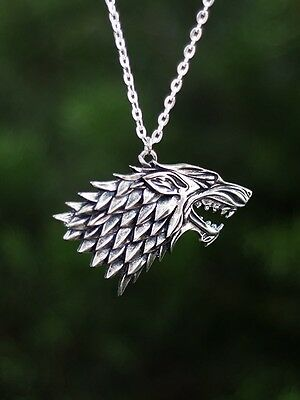 game of thrones house STARK necklace winter is coming gift pendant arya jonh