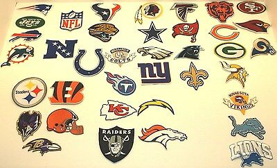 National Football League Team Patch, Embroidered, Iron or Sew on, NFL, FREE SHIP