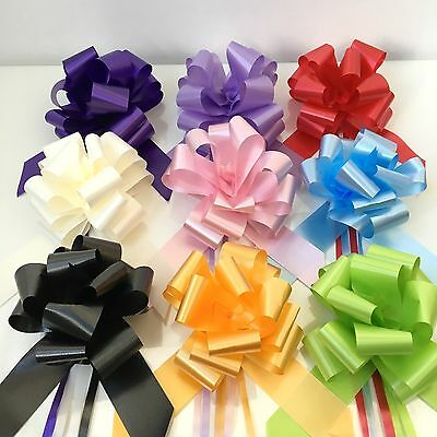 Pull Bows 19 Colours & Various Amounts Gift Bows Wedding Car Florist Party 50mm