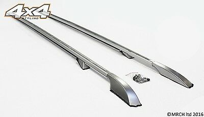 Land Rover Discovery 3 + 4 Luxury Extended Silver Roof Rails Set