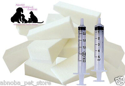 Nursing Sponge Kit Wedges & Feeding Syringes Puppy & Kitten Whelping Life Saver