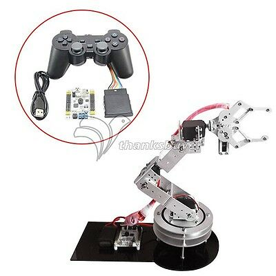 Aluminium 6DOF Robotic Arm Clamp Claw with MG996R Servos & 32CH Controller & PS2