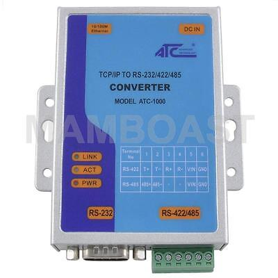 TCP/IP Ethernet to Serial RS232 RS485 RS422 Converter