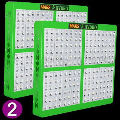 2PCS Mars Hydro Reflector 192 Led Grow Light Lamp Indoor Plant Full Spectrum IR