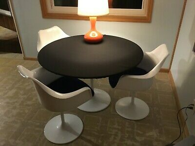 "Black Poker  Felt Table cloth for 60"" round elastic edge - MTO"