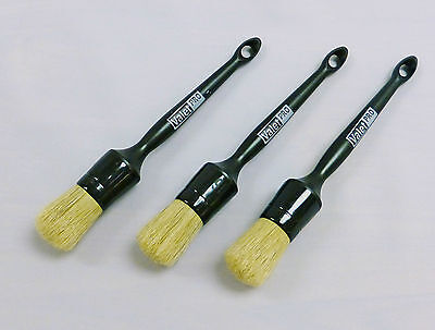 Valet PRO Alloy Wheel / Detailing Brush Set of 3 x Large Brushes