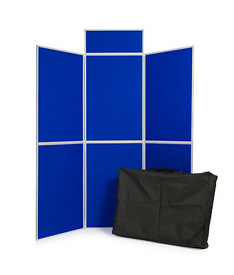 Portable Folding Exhibition Display Stand 6Panel with header board and Carry Bag