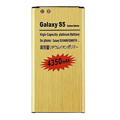 NEW High-Capacity 4350mAh Golden Battery for Samsung Galaxy S 5 I9600 G900F USA