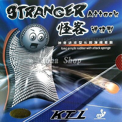 KTL Stranger Attack Long Pips-out Table Tennis Rubber with sponge, NEW!!!