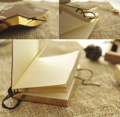 Classic Retro Thick Blank Pages Notebook Journal Diary Sketchbook