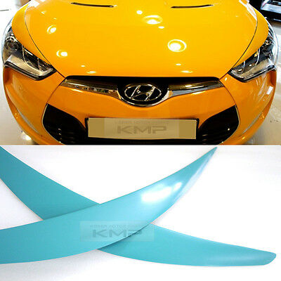 Head Light Lamp Eye Line Molding Cover Unpainted 2Pcs for HYUNDAI 11-17 Veloster