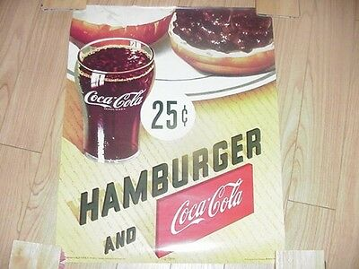 Coca-Cola Hamburger and Coke 25 Cents Poster-16 X 20-Very Cool-2000's