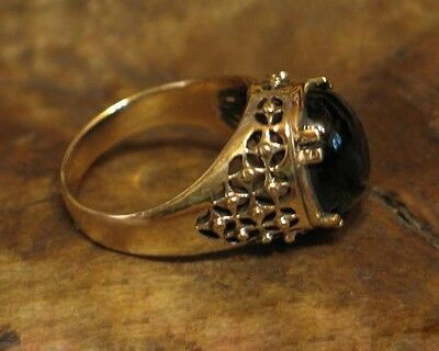 Bronze Ring beautifully crafted Byzantine BRONZE ring with onyx replica
