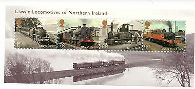 GB 2013 Classic Locomotives of Northern Ireland unmounted mint miniature sheet