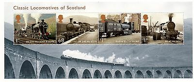 GB 2012 Classic Locomotives of Scotland unmounted mint miniature sheet MNH m/s