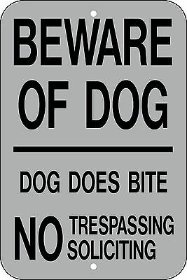12x18 BEWARE OF DOG SIGN