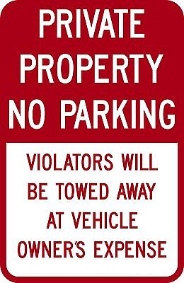 12x18 Private Property No Parking