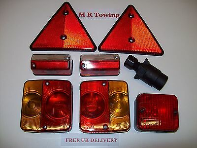 8 piece Trailer Lighting Kit with Front Markers/Fog Light