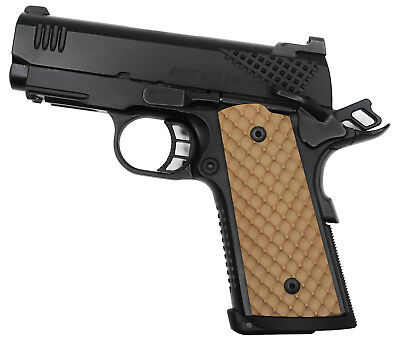 DURAGRIPS - COMPACT Officers Colt Kimber RIA S&W 1911 Tactical grips -  DIMPLES