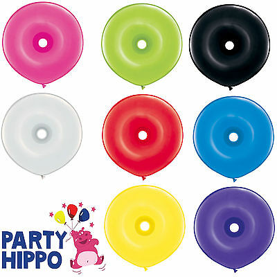 """16"""" Geo Donut Latex Balloons Qualatex Modelling Balloons Party 8 colous"""