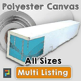 Inkjet Canvas Rolls, Matte Polyester Canvas Roll 260gsm, 18m & 30m in all Sizes!