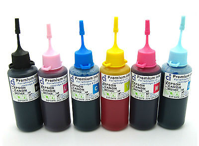 CISS Compatible Ink Refill Bottles Fits Epson PX700W PX710W PX720WD NON-OEM