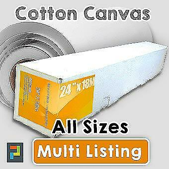 "Cotton Inkjet Canvas Rolls, Cotton Matte 330gsm x 18m. All Sizes 24"" - 60"""
