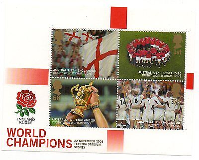 GB 2003 England Rugby World Cup Winners unmounted mint mini / miniature sheet
