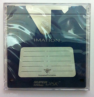 Imation Ls120 Superdisk 120Mb In Case (No Cover), Brand New Sealed Stock