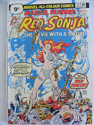 Marvel Feature # 4 Red Sonja  Pence Variant Bronze Age Issue