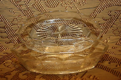 TWO Nut & Candy Glass Dish <>Antique Vintage 100+ years old <> For All Occasions