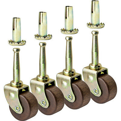 Hardwood Casters, Pack of 4