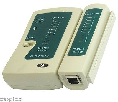 RJ45 RJ11 ETHERNET NETWORK LAN CABLE TESTER CAT5e CAT6