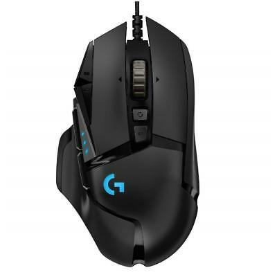 Logitech G502 HERO High Performance Black Optical RGB Wired Gaming Mouse Black