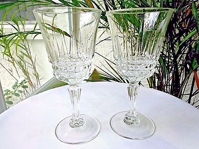 Cris D'Arques/Durand Water Glasses Barcelona Pattern Set of 2