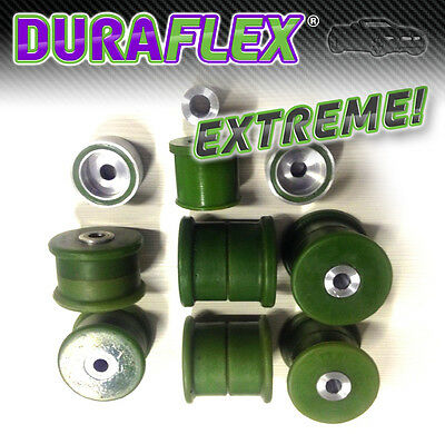 BMW E36 REAR SUBFRAME BUSHES & DIFF Mounts - GREEN DURAFLEX EXTREME Polyurethane