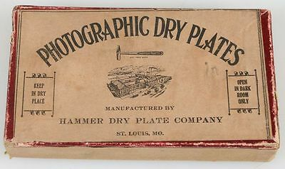 Vintage  Photographic  Dry Plates, Hammer Dry Plate Company, St Louis, Mo.